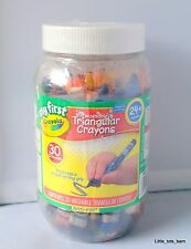 LTB: MY FIRST CRAYOLA TRIANGULAR CRAYONS IN BOTTLE PROPER GRIP 30pcs