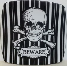 222 Fifth Halloween Skulls Appetizer Plates ▬ Set of 4 ▬ New - 4 Designs