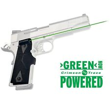 Crimson Trace LG-401G 1911 Full Size Front Activation Green Lasegrip Sight