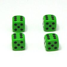 Set of  Four Ninja Green Dice Dust Caps X4 - 80's Retro Valve Caps - BMX VW