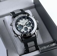 NEW ANTHONY JAMES CHALLENGER WRISTWATCH WITH BOX & LIFETIME WARRANTY- SRP £435