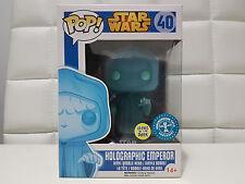 Funko POP ! Star Wars 40 - Holographic Emperor Underground Toy Exclusive - Glows