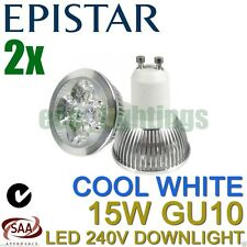 2 X EPISTAR LED GU10 15W bulb downlight spotlight globe lamp COOL WHITE 240V