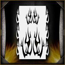 """Flames 9"" Airbrush Stencil Template Airsick"