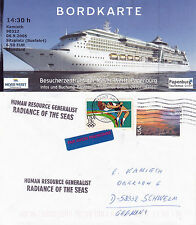 MS RADIANCE OF THE SEAS CRUISE SHIP A SHIPS CACHED COVER & MAG PICTURE