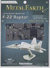 Fascinations Metal Earth 3D Laser Model Kit - F-22 Raptor Aircraft FREE SHIPPING
