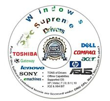 Windows Drivers CD Disc for Microsoft Windows 10 8.1 8 7 VISTA XP 2016 Auto