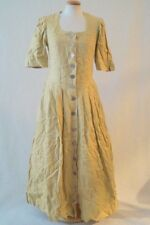 Vintage German yellow victorian edwardian coin costume dress 10-12