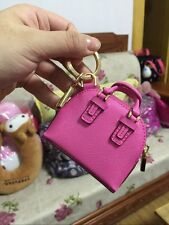 Mini Bag Keychain Keyring Handcraft  Leather Wallet Zipper Design BJD Handbag