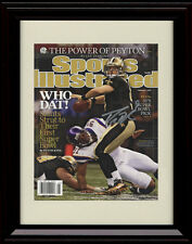 Framed Drew Brees Sports Illustrated Autograph Print New Orleans Saints