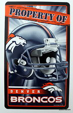 New NFL Licensed Denver Broncos Property Sign Plastic Decor Football Game League