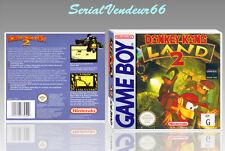 """Boitier du jeu """"DONKEY KONG LAND 2"""", Game Boy. PAL FR. HD. SANS LE JEU."""