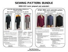 Sewing Pattern Bundle: Star Trek DS9/NEM & VOY Men's Jumpsuit + Men's Undershirt