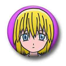 Manga Girl 1 Inch / 25mm Pin Button Badge Anime Cartoon Comic Book Cute Kitsch