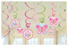 Welcome Little One Girl Baby Value Pack Foil Swirl Decorations Party Supplies