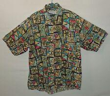 """Star Vintage 80s Camisa Hawaiana Reino Unido XL L EE. UU. 48"""" 122 cm de pecho H457"""
