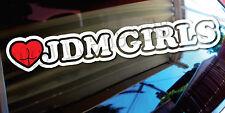 Heart JDM Girls _sick euro JDM race drift stance Decal Sticker