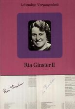 Recitals 1-3, complete Set, Ginster Ria, autographed