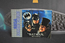MANUAL DE INSTRUCCIONES DE BATMAN RETURS SEGA GAME GEAR
