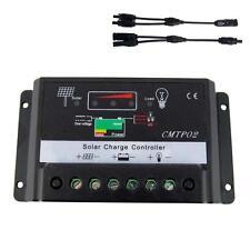 30Amp 12V/24V Solar Panel Charge Controller Battery Regulator + MC4 Connector BA