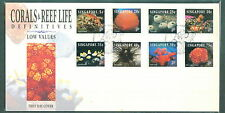 S'pore  FDC definitive corals & reefs 3 covers High, Low & no values 1994