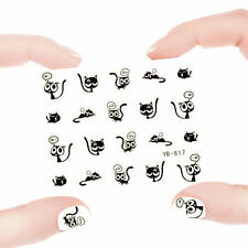 Nail Art Manicure Water Transfer Decal Stickers Lovely Cat YB617