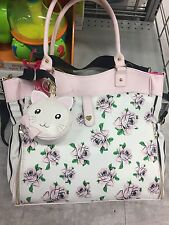 *NWT* NEW BETSEY JOHNSON ROSE STRIPE ROLLOUT WEEKENDER DIAPER BAG MRSP $158