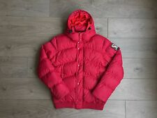 Tommy Hilfiger Puffer Jacket - Men's Medium - Red - Goose Down Fill