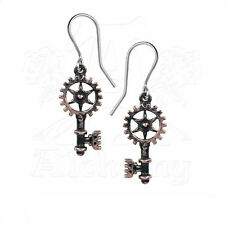 Earrings Boucle d'oreille Alchemy Gothic Steampunk Clavitraction Key Gothique