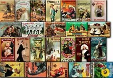 Souvenir FRIDGE MAGNETS - Lot of 24 russian vintage advertising  (1890-1917)