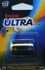 Kodak Ultra 123 (DL123A, CR123A) 3V Lithium Battery Exp 2023