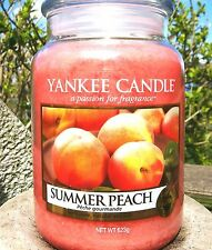 """Yankee Candle """"SUMMER PEACH """"  22 oz. NOT YET RELEASED!!  NEW"""