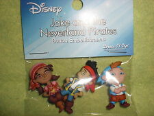 Disney JAKE AND THE NEVERLAND PIRATES Theme Button Embellishments