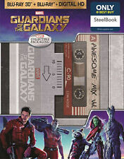 Guardians of the Galaxy (Blu-ray 3D, DVD, Digital HD) Best Buy Steelbook NEW !!!