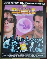 WWE WWF Vintage Royal Rumble 1993 Poster 16x20 Bret Hart Razor Ramon Scott Hall