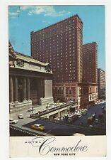 USA, Hotel Commodore, New York City 1962 Postcard, A807