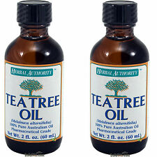 2x Herbal Authority Tea Tree 100% Pure Australian Oil 2 oz, Pharmaceutical