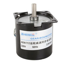 High Torque AC 220V 2.5RPM Gear-Box Electric Synchronous Gear Motor Replacement