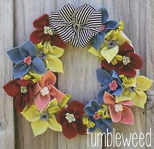 TUMBLEWEED WREATH - Sewing Craft PATTERN - Felt Christmas Easter Decoration