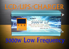 "20000W/5000W LF Pure Sine Wave Power Inverter 3.5""LCD/UPS/Charger 12V DC/230V AC"