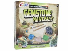 DIG & DISCOVER YOUR OWN CRYSTAL GEMS GEMSTONES MINERALS  PLAY TOY SET 16-6625