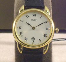 Seiko SYJ178  White Dial Roman Numerals Ladies Strap Watch