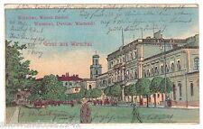 AK Warschau, Warszawa - Wiener Bahnhof - um 1915