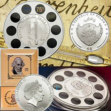 2 COINS - FAHRENHEIT & CELSIUS - Silver Proofs - THERMOMETER - Palau & Cook 2014