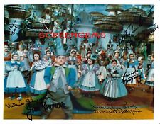 The Wizard of Oz RARE signed 6 child Munchkins photo Judy Garland film classic