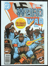 PRIMATE PLATOON REPRO POSTER . WEIRD WAR TALES #89 JULY 1980 COVER. DC COMIC D66