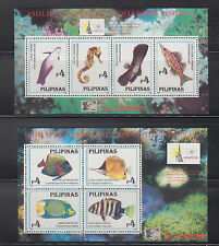 Philippine Stamps 1996 Marine Aquarium Fishes II ss (2) OVPT  China'96 Exhibit M