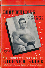 1945 Hollywood's Richard Kline Body Building, 6 Courses, 64pp Booklet