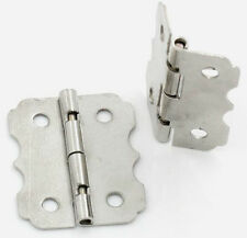 Silver Tone 4-Hole BOX HINGES 24 x 20mm - Jewellery Box Making, etc x 4