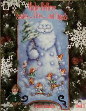 TOLE PAINTING BOOK Make Believe Santas..Elves and Angels 3 By Bobbie Takashima